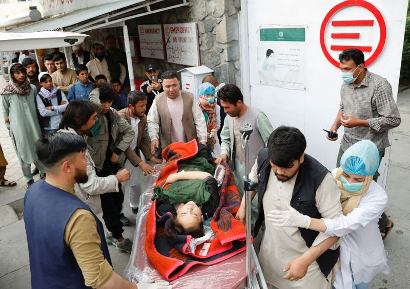 Blasts targeting Afghan school in Kabul kill 40, injures dozens