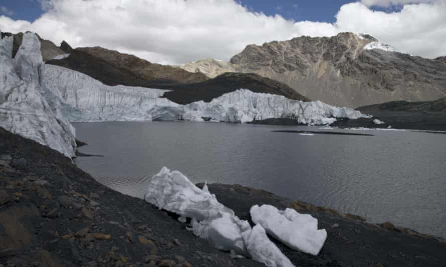 The Pastoruri glacier in Peru