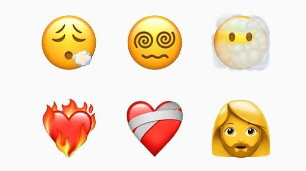 Heart-on-fire to face with spiral eyes (for some reason) are among the new emojis on Apple's latest update to its operating system.