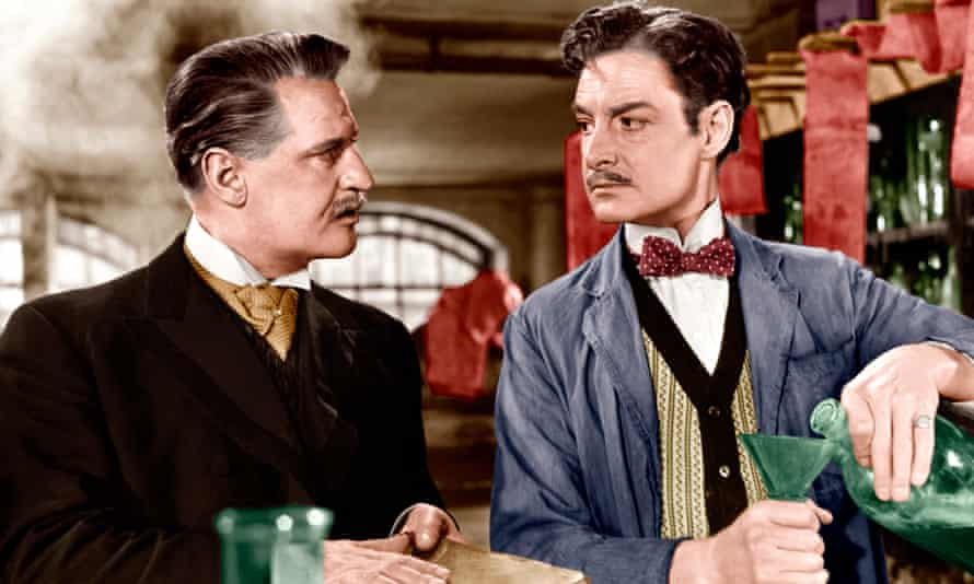 Eric Portman and Robert Donat in the 1951 biopic of Friese-Greene, The Magic Box.