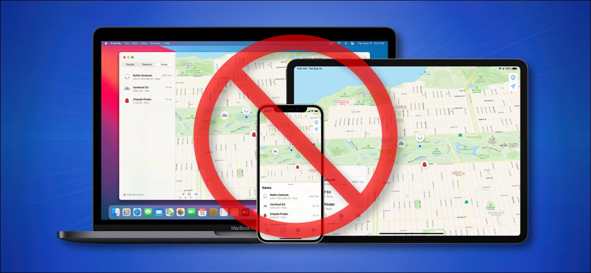 Apple's Find My Network Running on Apple Devices Crossed-Out Hero