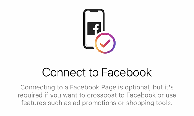 connect to facebook prompt