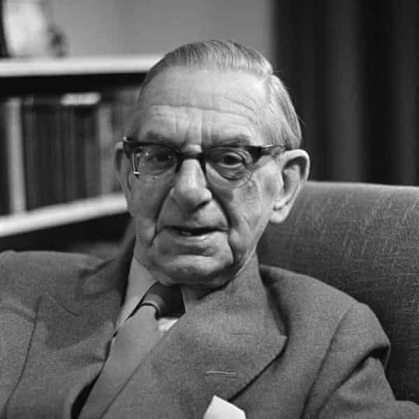 Neville Cardus photographed in 1969