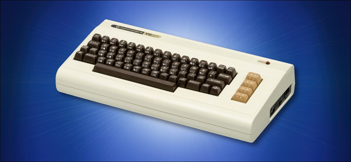 Commodore VIC-20 on Blue