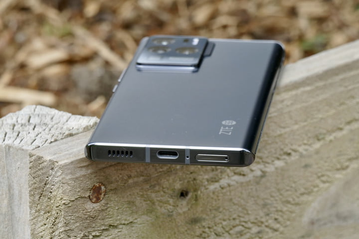The charge port on the ZTE Axon 30 Ultra