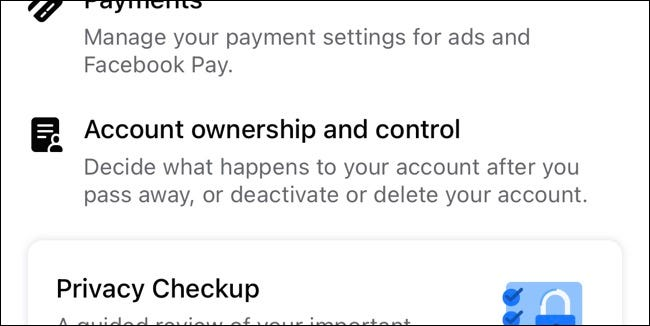 Facebook Account Ownership and Control Settings