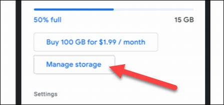 """Tap """"Manage Storage"""" if you see it."""