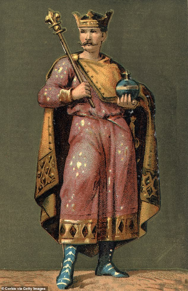 Carolingian king Charles the Bald (pictured) reportedly paid the Vikings 7,000 livres, or more than five tons of silver and gold, to not sack Paris in the 9th century