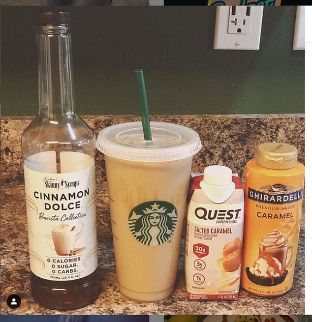 Having too many shots of espresso can affect heart rate, cause arrhythmias and lead to dehydration. Pictured: Ingredients for a proffee recipe