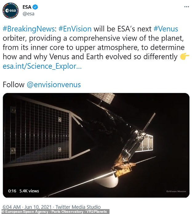 The mission, targeting a launch in the early 2030s, will help explain why Venus turned into a boiling hot planet, sometimes referred to as 'Earth's evil twin'