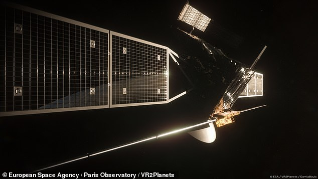 EnVision (pictured), could launch as early as 2031, but may also go into orbit in 2032 or 2033, the ESA said