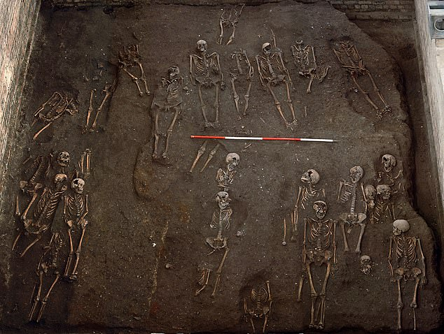 Researchers found that the burial plots for wealthier citizens and the clergy were much more likely to have skeletons with bunions