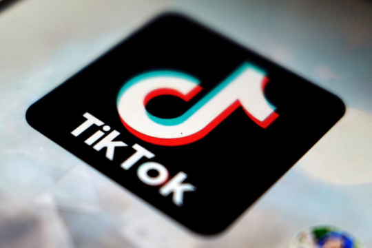 FILE - This Sept. 28, 2020 file photo, shows a view of the TikTok app logo, in Tokyo. TikTok said Friday, April 30, 2021, that its new CEO is Shouzi Chew, the new CFO of its Chinese parent company, ByteDance. He is based in Singapore, where TikTok has an office. (AP Photo/Kiichiro Sato, File)