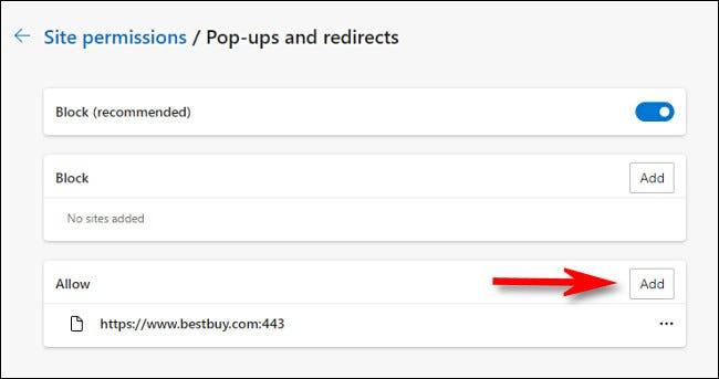 "Click ""Add"" beside the ""Allow"" header."