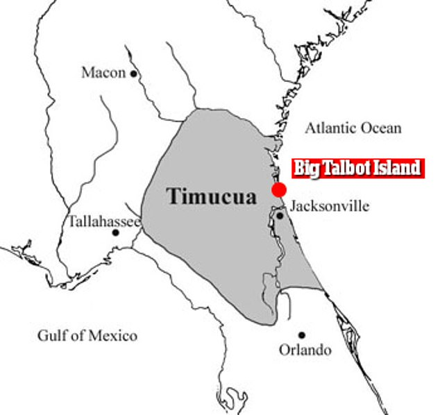The Mocama were a subset of the larger Timucua people, an Indigenous network in northern Florida with a population of between 200,000 and 300,000. Researchers believe they've discovered Sarabay, a major Mocama settlement, on modern-day Big Talbot Island (pictured)