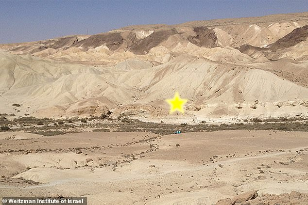 The star represents where Boker Tachtit is in Israel's Negev Desert