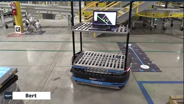 Amazon is using technology to keep its warehouses workers safer, despite claims to the contrary.Bert was designed to navigate Amazon's warehouses independently, becoming one of the Jeff Bezos-led company's first autonomous mobile robots