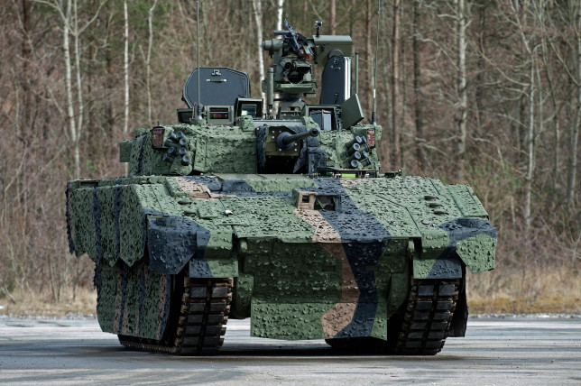 A pre-production prototype of the turreted Ajax tank (Credits: MoD/Crown copyright 2016)