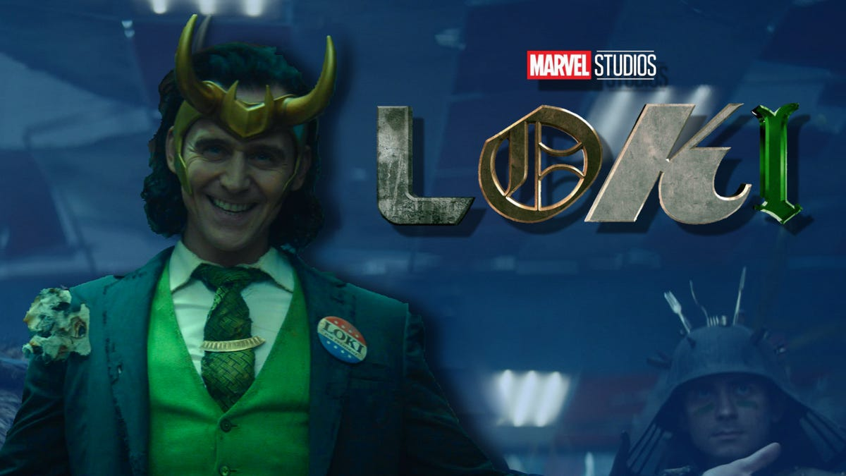 'Loki' promo art with logo and blue color overlay