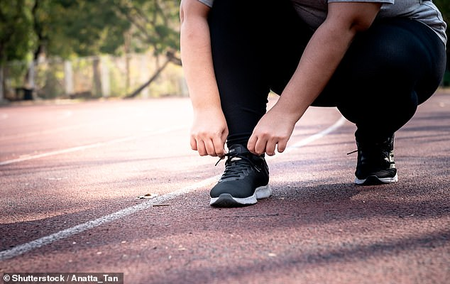 Obese people who exercise regularly are still at an increased risk of diabetes, heart disease, stroke and respiratory disease, a study has cautioned (stock image)
