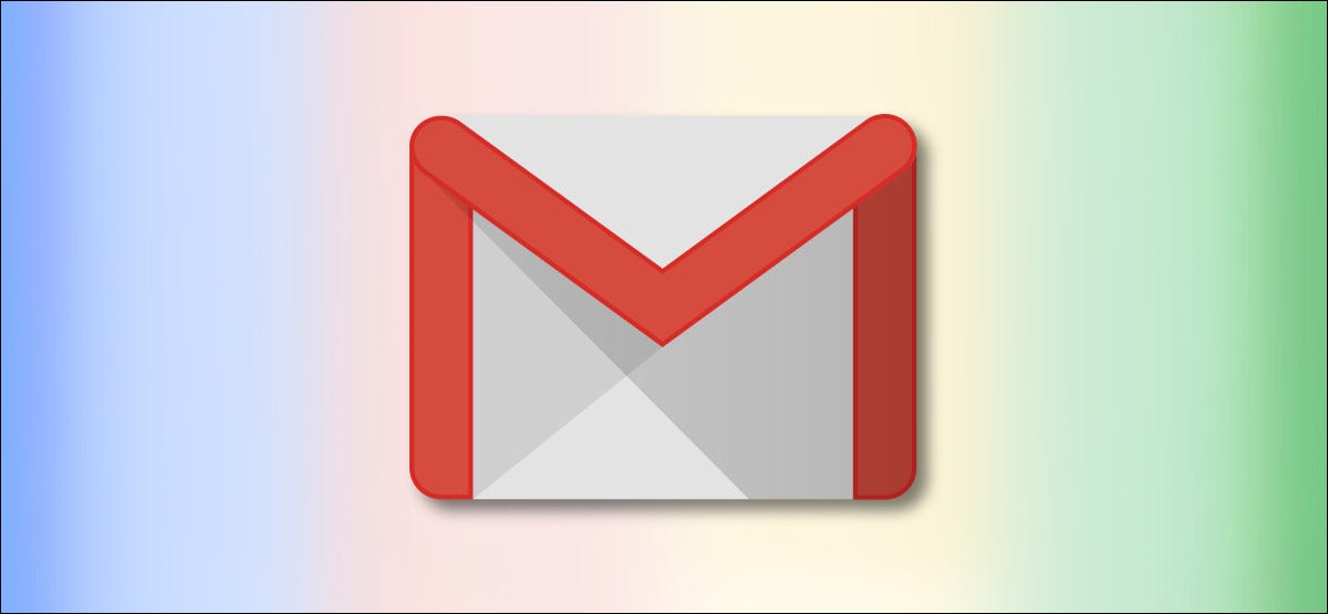 Google Gmail Logo on Rainbow Background