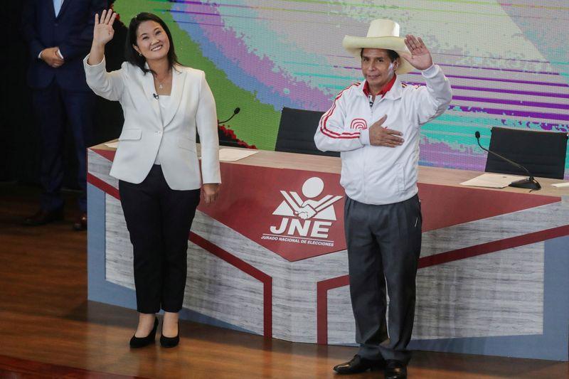 Peru's Castillo falls in polls, suggesting photo finish against Fujimori