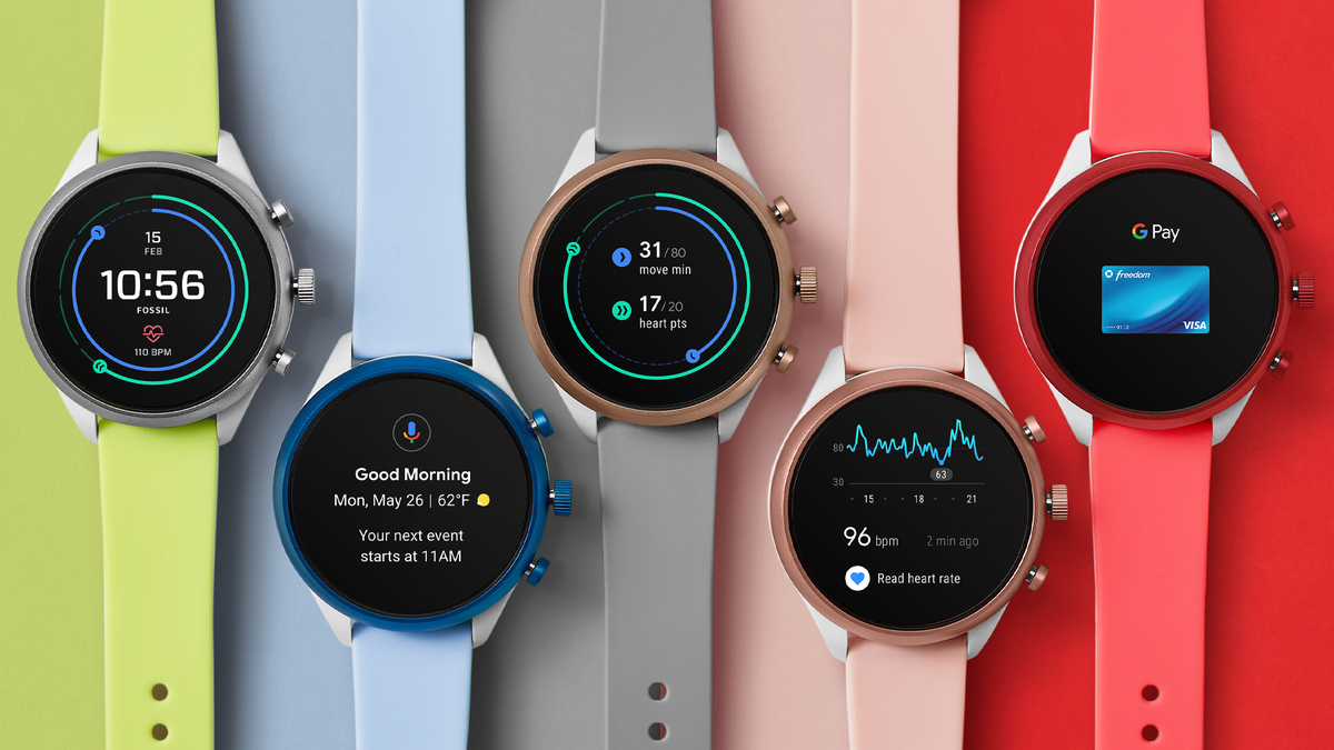 The Fossil Sport smartwatch.
