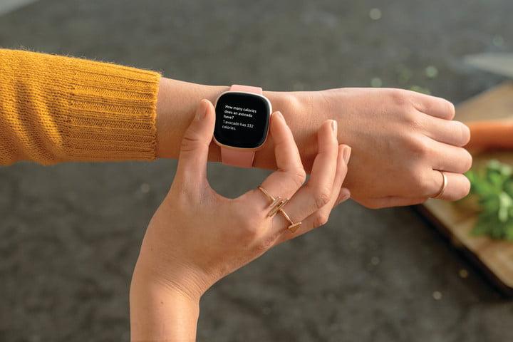Wearing Fitbit Versa 3