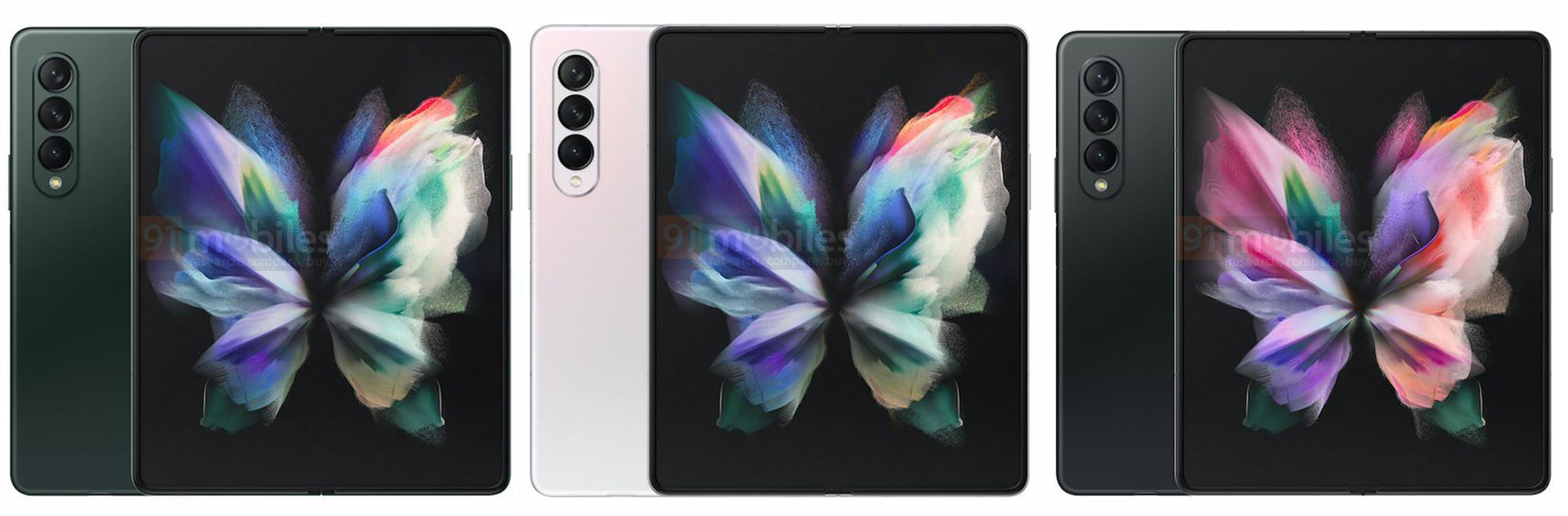 Samsung Galaxy Fold 4 model color options leak.