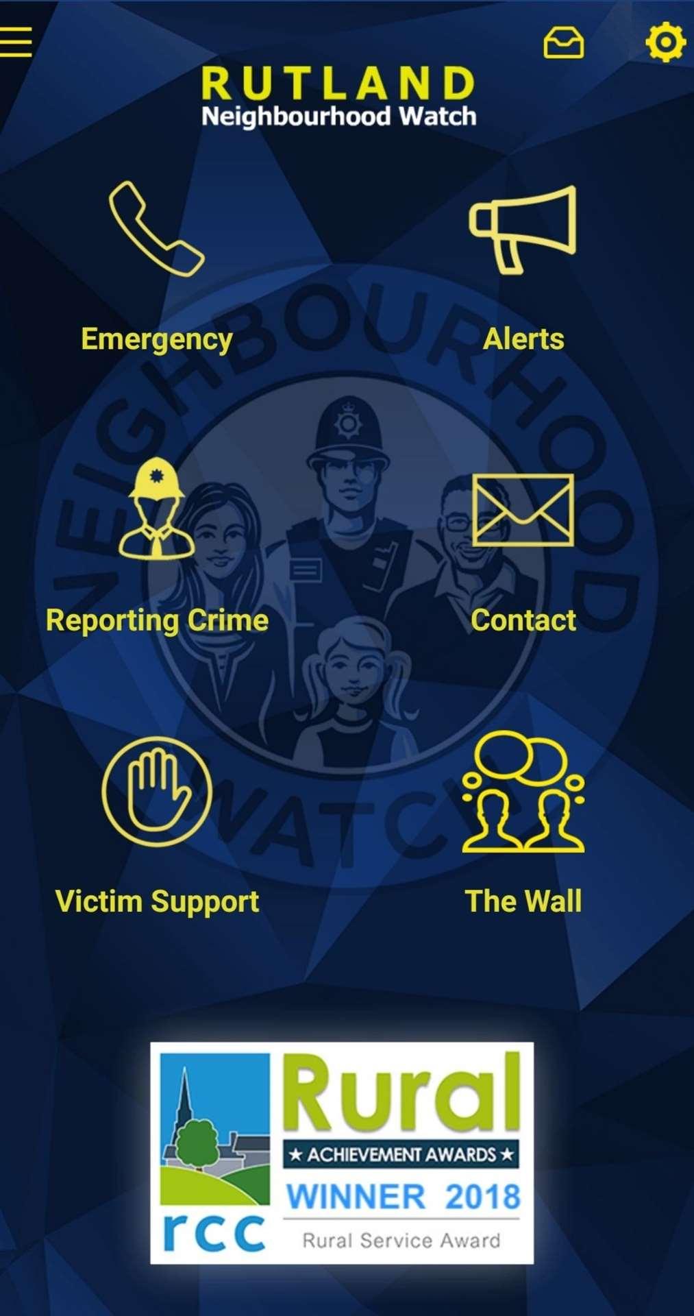 The Rutland Neighbourhood Watch app