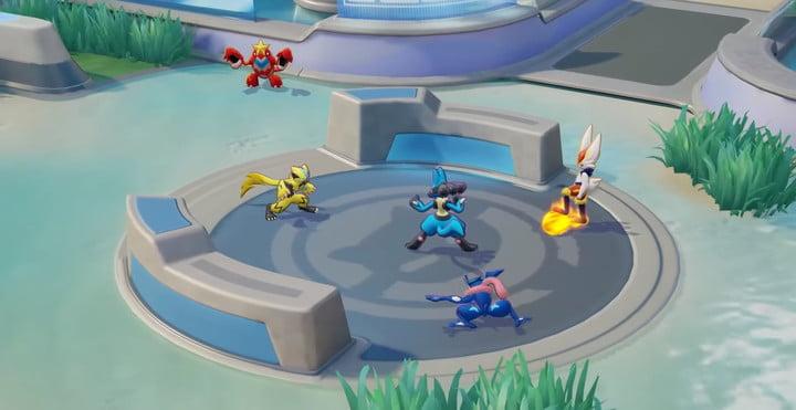 Zeraora combat in Pokemon Unite