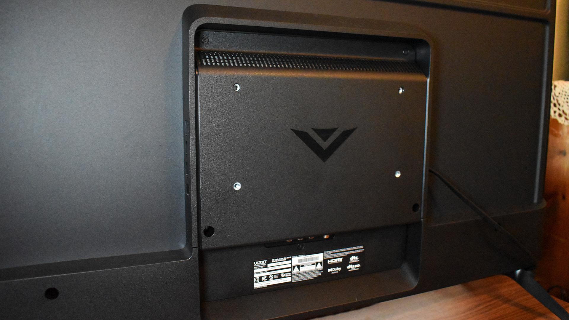 The VIzio TV's backside.