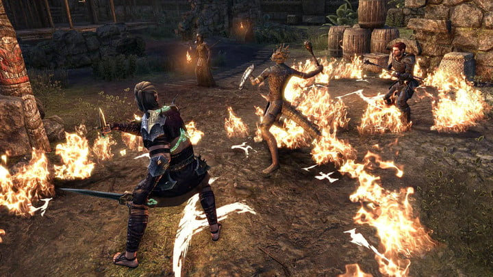 Elder Scrolls Online player fighting with a Companion.