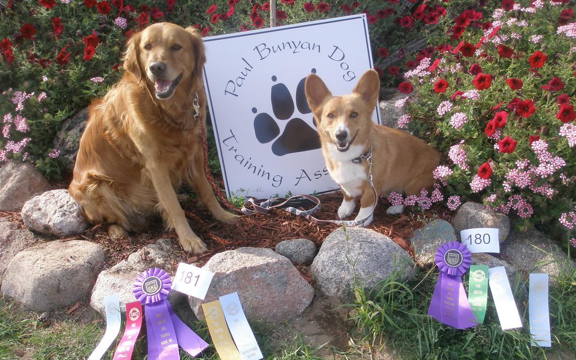 Skye and Caleb pose with their numerous ribbons and new titles.
