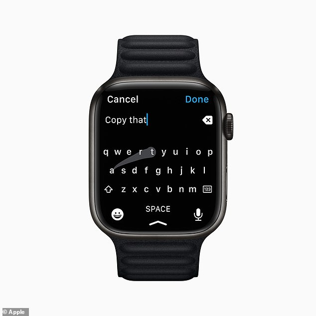 Because of the larger display, users can now experience the new QWERTY keyboard that can be tapped or swiped with QuickPath