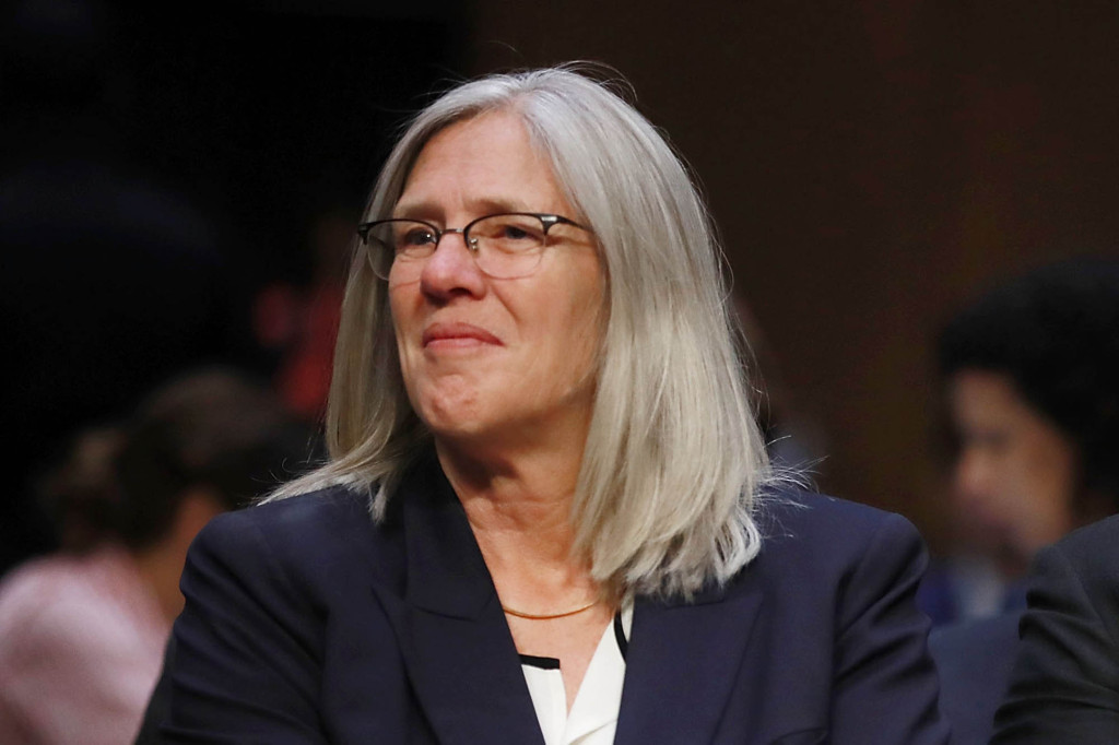 """Former principal deputy director of national intelligence Susan M. Gordon is a """"consultant on technology and global risk"""" at a think tank called the Center for a New American Security, which is funded by Facebook, Google, Amazon and Microsoft, among other companies."""