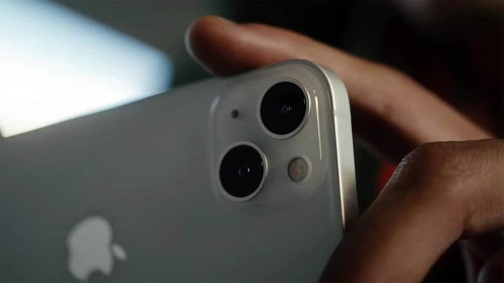 iPhone 13 diagonal dual camera.