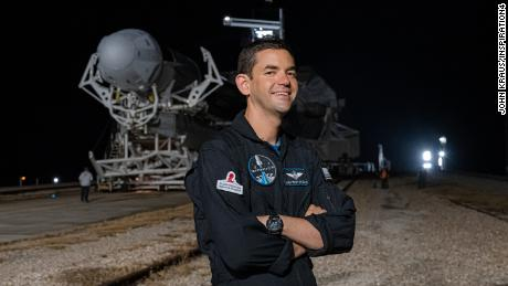 Jared Isaacman during rollout at Launch Complex 39A on September 11, 2021.
