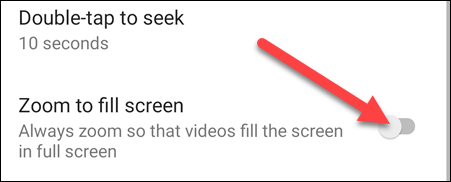 """Enable """"Zoom to Fill Screen."""""""