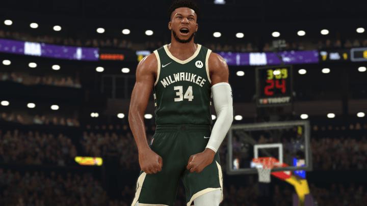 Giannis Antetokounmpo in NBA2K22.
