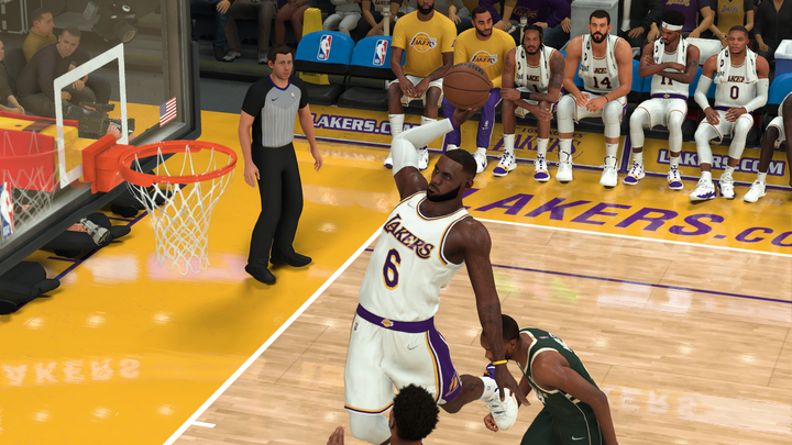 Lebron James in NBA 2K22.