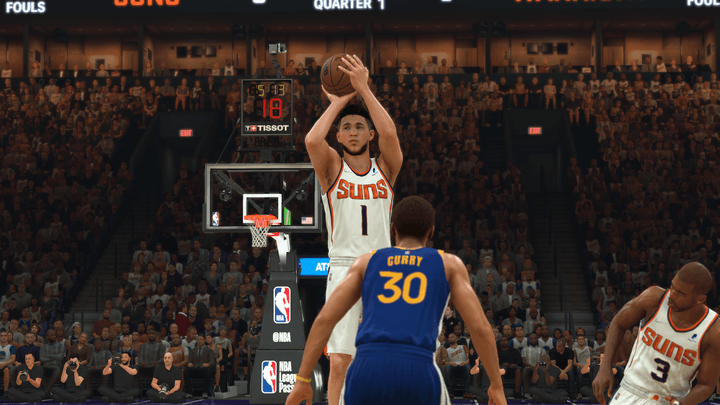 Devin Booker in NBA 2K22.