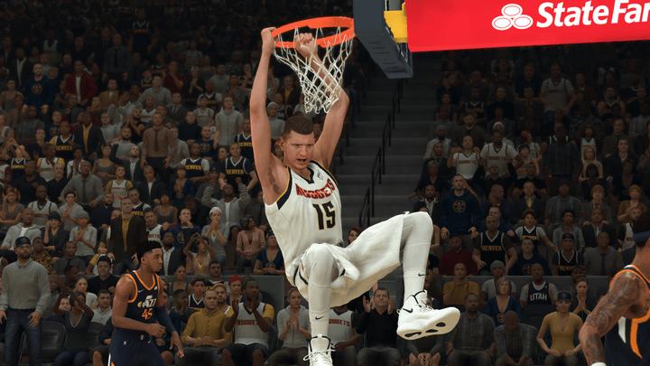 Nikola Jokić in NBA 2K22.
