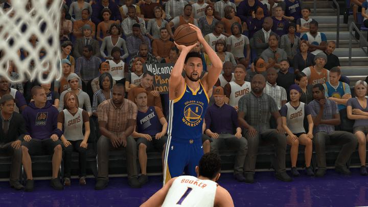 Klay Thompson in NBA 2K22.