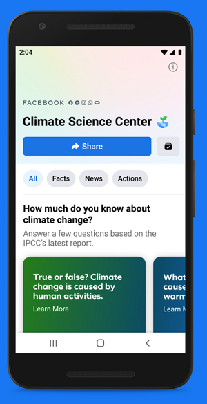 Facebook Climate Science Center update