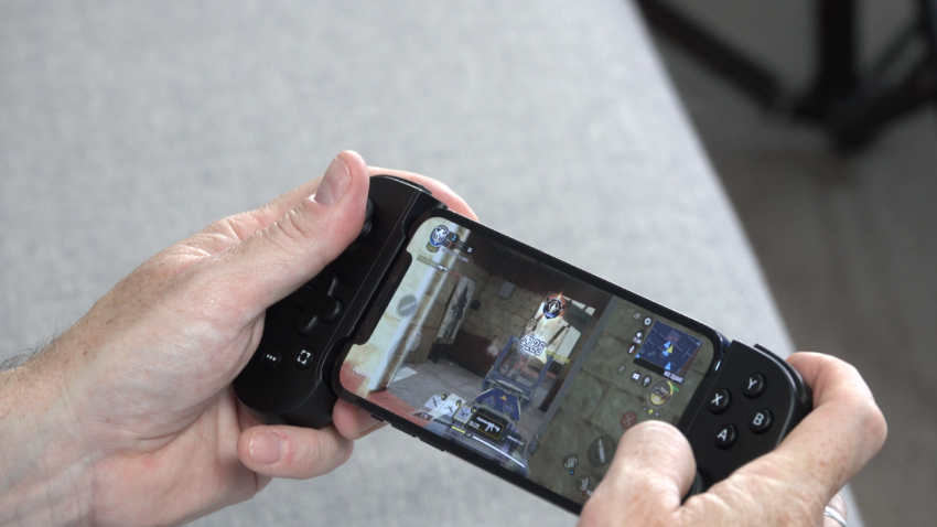 Call of Duty Mobile on iPhone with Backbone One