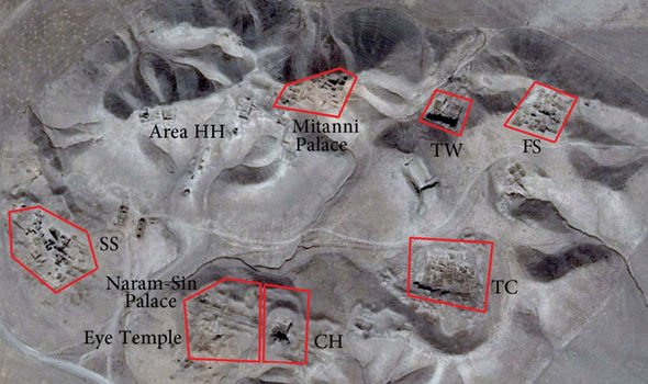 Ancient history: Some of the sites mapped that indicate evidence of habitation