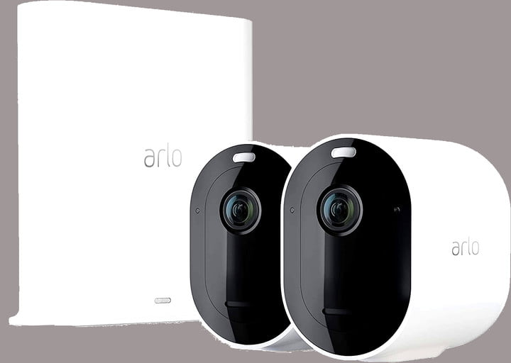 The Arlo Pro 3 home security camera system.
