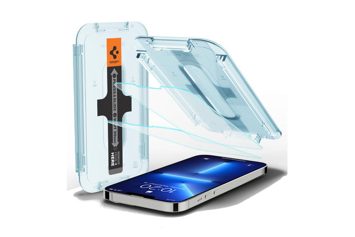 Spigen EZ FIT GLAS.tR SLIM - best iPhone 13 screen protectors.