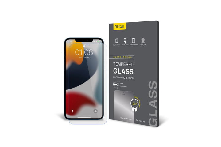 Olixar iPhone 13 Tempered Glass Screen Protector for iPhone 13.